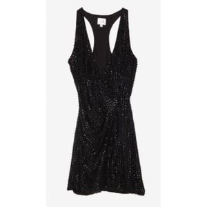 Parker exclusive racer back sequin wrap dress