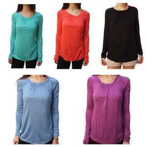 Kenneth Cole Tops - KENNETH COLE L/S Top Purple Turquoise Coral Black