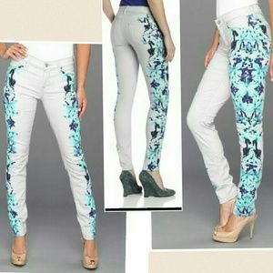 7FAM Skinny Jeans Placement Floral Seven Mankind!