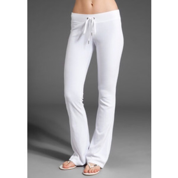 69% off Juicy Couture Pants - White velour Juicy Couture pants ...