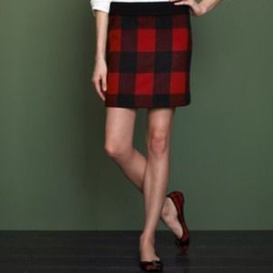 J. Crew wool mini skirt