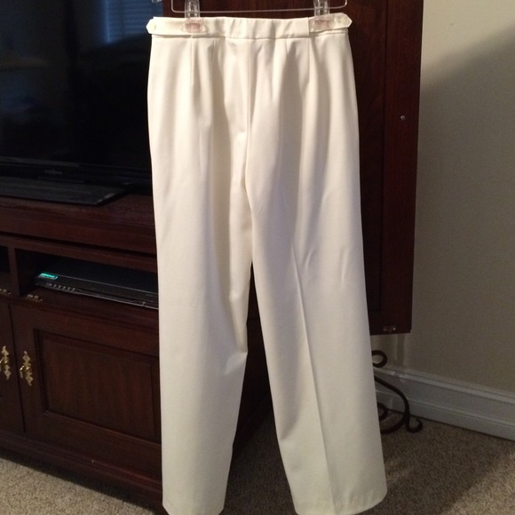 winter white wool pants - Pi Pants