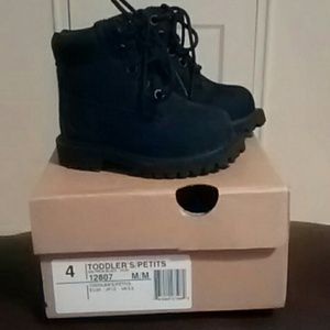 toddler timberland boots for boys black