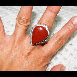 handmade & handcrafted gemstone jewelry Jewelry - ✂️💥SALE💥✂️ Red Jasper Size 8 3/4 Ring