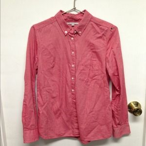 Coral chambray gap shirt!