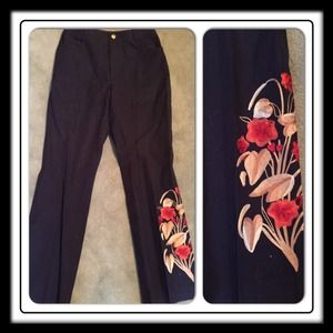 Fun and FancyDana Buchman Embroidered Pants