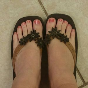 Shoes - Brown sandals size 8
