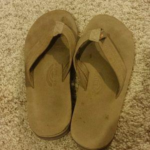 Shoes - Rainbow flip flops