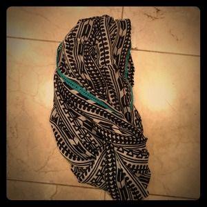 Accessories - Black print infinity scarf