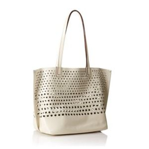 Olivia Harris Perforated Shoulder Bag
