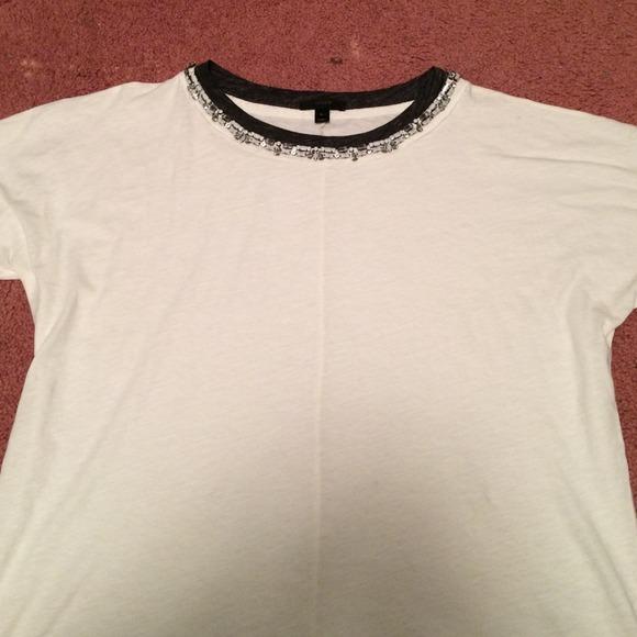 6644966523c3 J. Crew Tops - JCREW jeweled collar t shirt LARGE