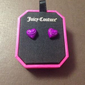 Juicy Couture Purple Heart studs