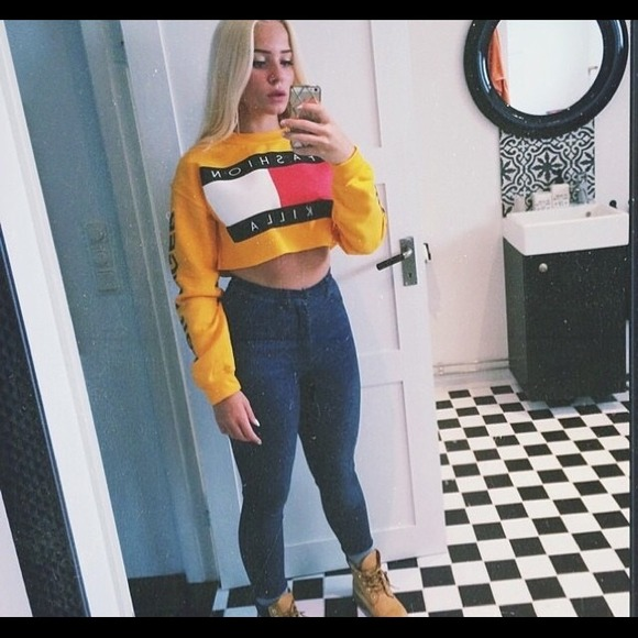 e61a8ed16934c American Apparel Sweaters - Fashion killa cropped sweater