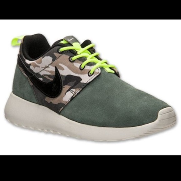 plnsfe 20% off Nike Other - Worn 1x - Roshe Run - Camo (Green Suede
