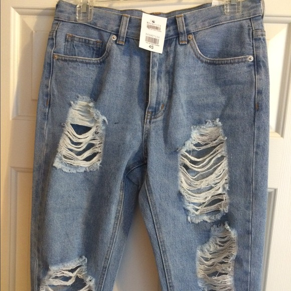 a959ed30aed Brandy Melville ripped boyfriend jeans. Listing Price: $35.00