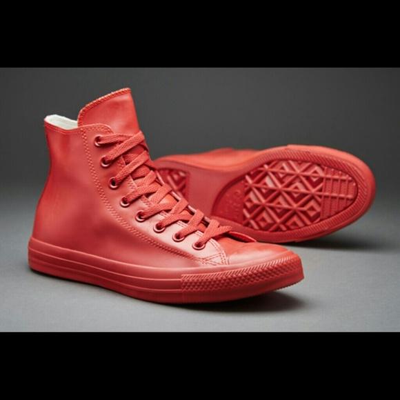 50b21a9f88e752 Unisex Red Rubber waterproof Converse