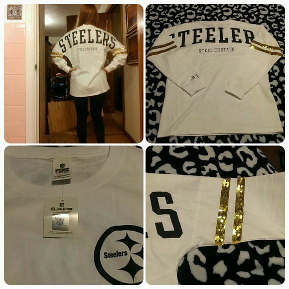 1c9ec10befd PINK Victoria's Secret Tops | Pittsburgh Steelers Sequin Varsity ...