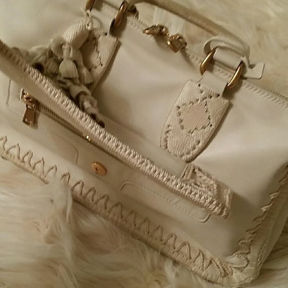 78% off Yves Saint Laurent Handbags - YSL Creme Zip Top Handle ...