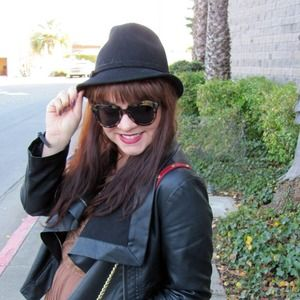 Aqua Accessories - Black Wool Felt Fedora Hat