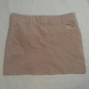 J Crew Corduroy Mini Skirt Size 8 Tan Brown Khaki