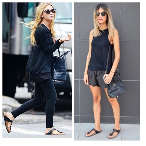 Birkenstock Black Gizeh T-Strap Sandals 259a23c0a88
