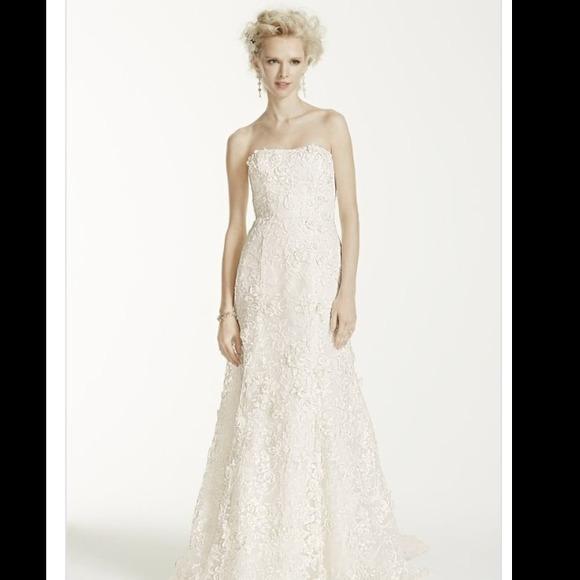 Trumpet Bottom Wedding Dresses : Off oleg cassini dresses skirts fitted trumpet wedding gown w