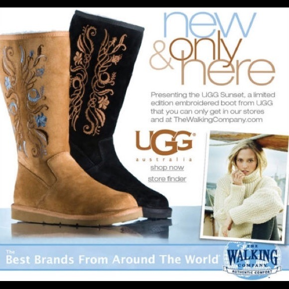 Ugg boots limited edition embroidered tall size 9