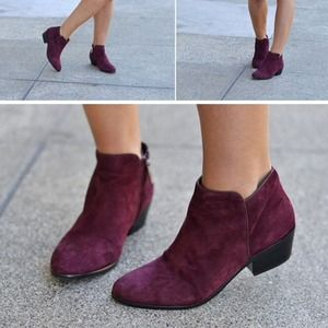 Sam Edelman Shoes - Burgundy Suede Booties