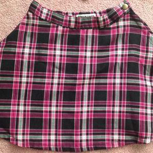 American Apparel Plaid Circle Skirt