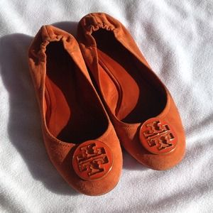 Tory Burch Orange Reva flats sz8.5