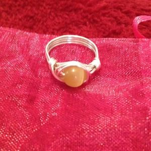 Yellow SS moonstone ring!