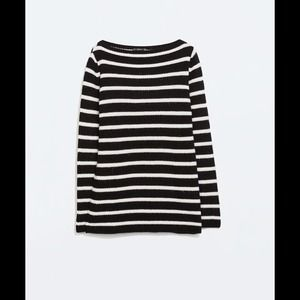 ZARA Striped Sweater NWT