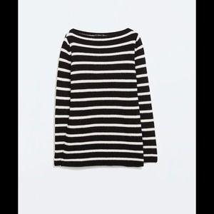 ZARA Striped Sweater NWT