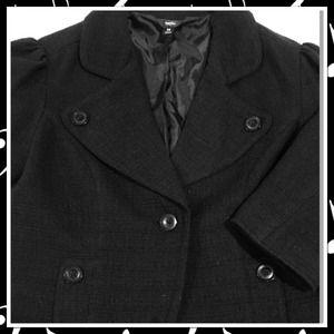 3/4 Sleeves Black Blazer 