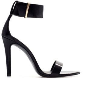 Zara black strappy heels