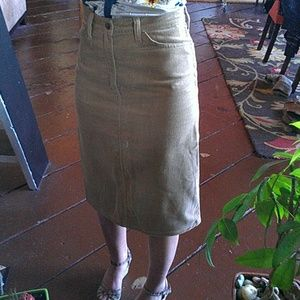 Vintage Levi's Corduroy Pencil Skirt