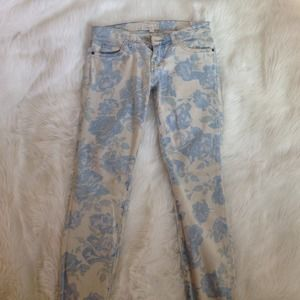  PRICE DROP  Current/Elliott blue rose jeans