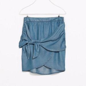 Zara Jean Crossover Skirt w/ Bow Tie