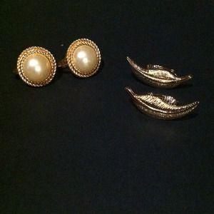 Avon 2-set Clip Earrings