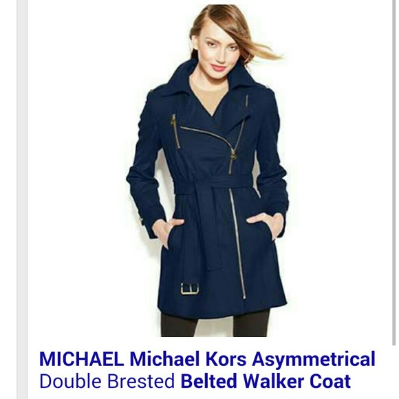 quite nice check out stylish design Michael Kors Asymmetrical Belted Walker Coat