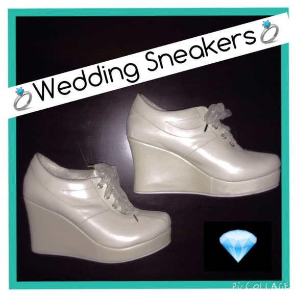 wholesale dealer 7450c bd1ff La Novia Shoes - 💎Platform Wedding Sneakers💎