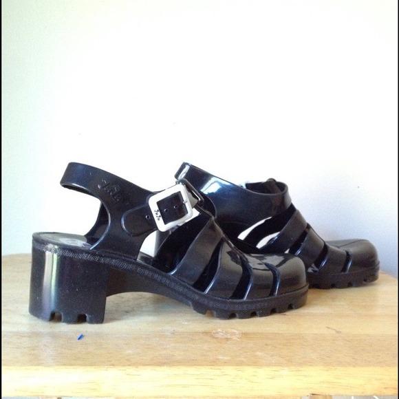 6cf15f7357ed Juju Jelly Babe Black Heeled Sandals