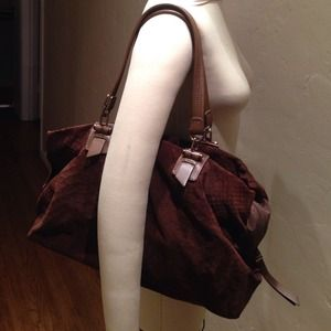 Lanvin Dark Brown Suede handbag