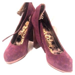 REDUCED Sam Edelman burgendy suede pump 8.5