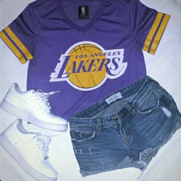 27dfdee143f Forever 21 Tops - ❌SOLD❌ Forever 21 LA Lakers Jersey Crop Top