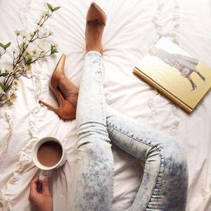 Nude Zara asymmetrical leather heels