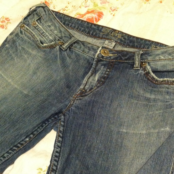 Silver Jeans - Silver &quotsteel&quot denim flare blue jeans size 33 from