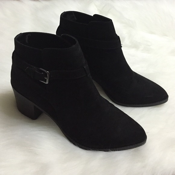 Faux Suede Buckle Ankle Booties | Poshmark