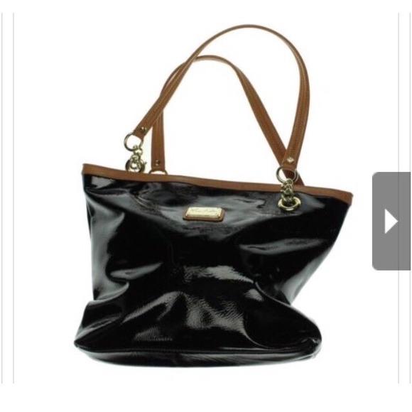 Marc Fisher Bags Black Patent Shopper Handbag Poshmark
