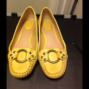 Frye Yellow Mocassins Size 6